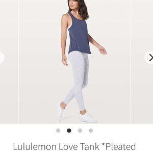 Lululemon Love Tank - Pleated